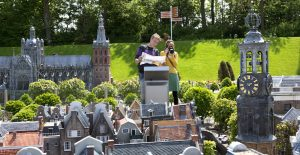 visitors in Madurodam, the interactive miniature park in The Hague; The Hague, Netherlands